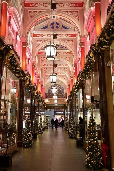 E.B. Meyrowitz: Luxury Optician London - The Royal Arcade at Christmas