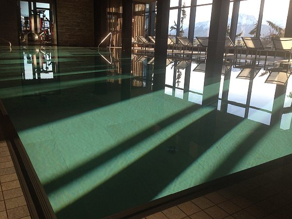 Luxury Swimming at the Crans Ambassador Luxury Hotel in Crans-Montana
