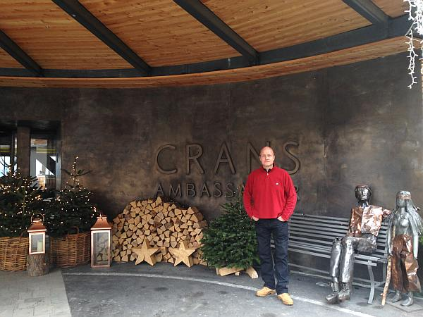 Michael Grenville departs The Crans Ambassador in Crans- Montana, Switzerland