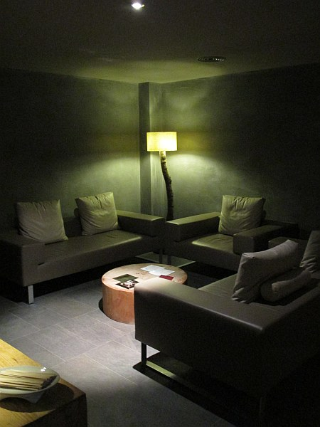 Relaxation Room in the Crans Ambassador Spa in Crans- Montana, Switzerland