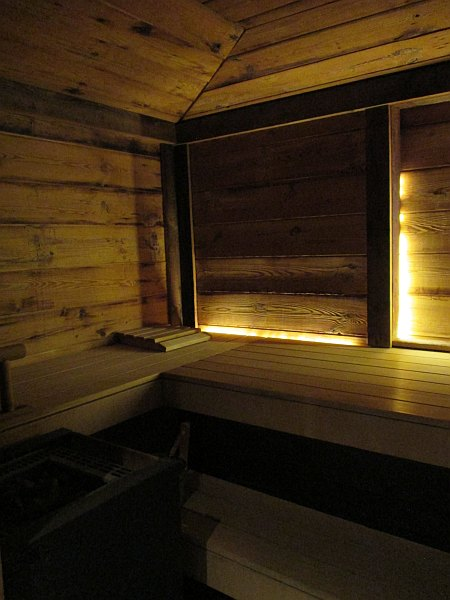 Sauna in the Crans Ambassador Spa in Crans- Montana, Switzerland