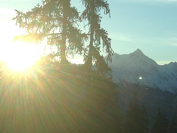 Sunrise at The Crans Ambassador in Crans- Montana, Switzerland