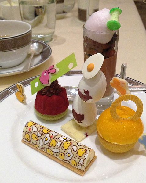 The Langham Hotel London Easter Afternoon Tea - Easter cakes, very fun ...
