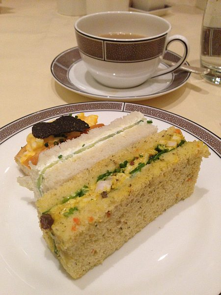 The Langham Hotel London Easter Afternoon Tea - tea & sandwiches, how very English..