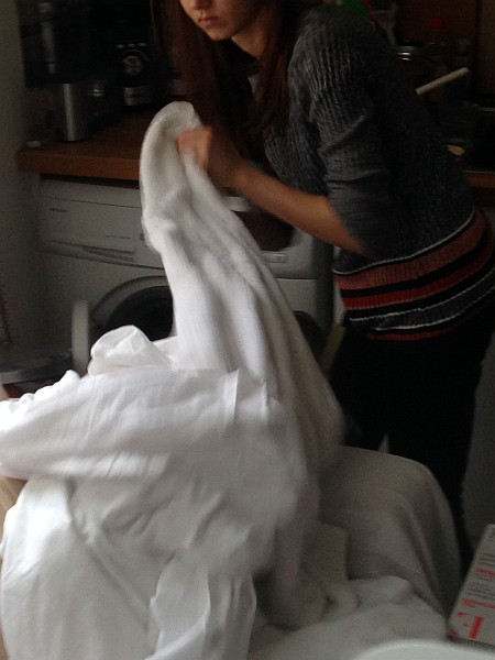 The Gentlemans Cleaning Service - Voila Luxury Cleaning, Monday Clothes Washing, sorting the whites