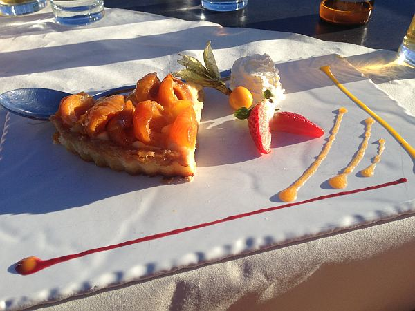 Crans Montana, Spring luxuries in the Mountains - Les Violettes Restaurant, Local Apricot Tart