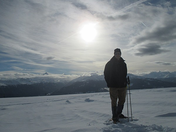 Crans Montana, Spring luxuries in the Mountains - Michael Grenville Snowshoeing