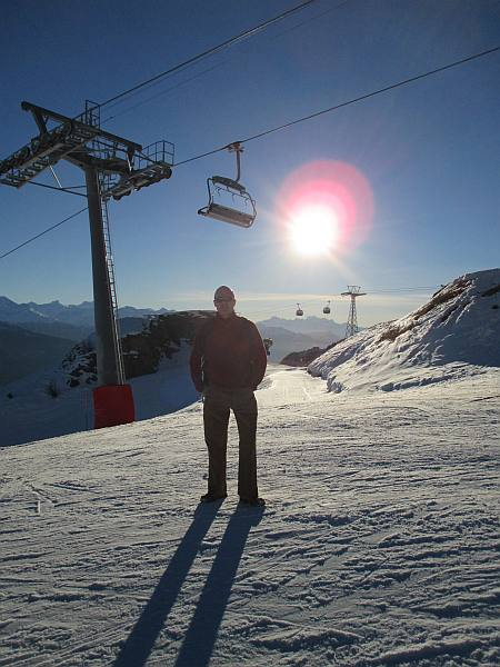 Crans Montana, Spring luxuries in the Mountains - Michael Grenville on top of the mountain, Les Violettes