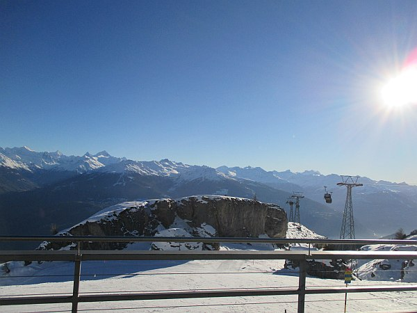 Crans Montana, Spring luxuries in the Mountains - View from Les Violettes Restaurant