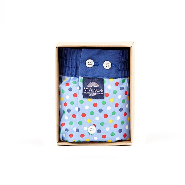 Mc Alson multicoloured dot boxer shorts - luxurious gentlemen's underwear