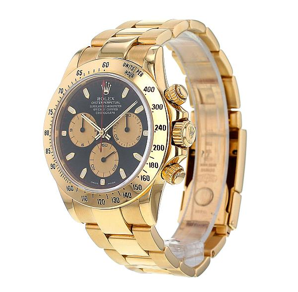 The Watch Gallery online preowned luxury watch store - Rolex Daytona side view
