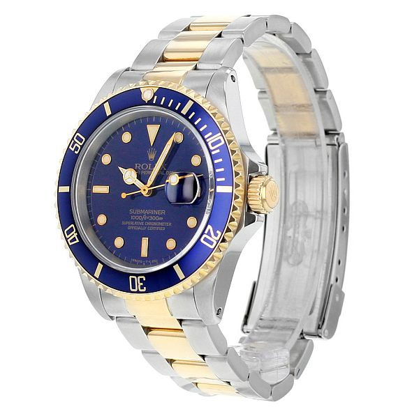 The Watch Gallery online preowned luxury watch store - Rolex Submariner side view