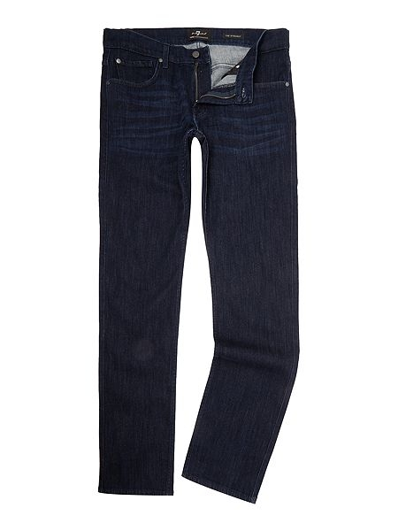 Gentlemans Butler Top 5 Luxury Jeans - 7 For All Mankind `The Straight` Luxe Performance Dark Stretch Jean