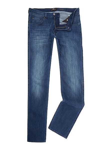 Gentlemans Butler Top 5 Luxury Jeans - 7 For All Mankind `The Straight` Luxe Performance Stretch Jeans