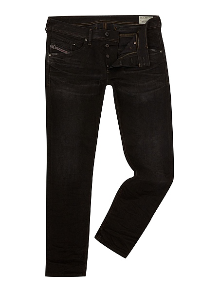 Gentlemans Butler Top 5 Luxury Jeans - Diesel Belther 666Q Tapered Fit Stretch Jeans