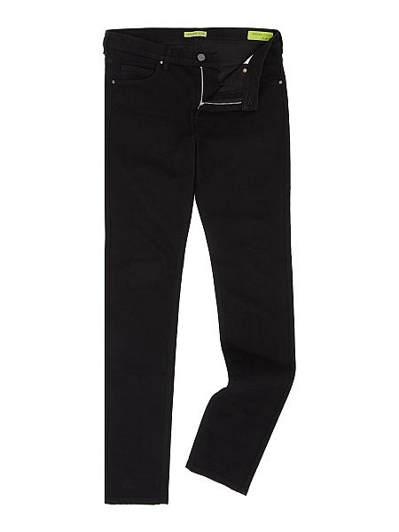 Gentlemans Butler Top 5 Luxury Jeans - Versace Jeans Tiger slim fit black jeans
