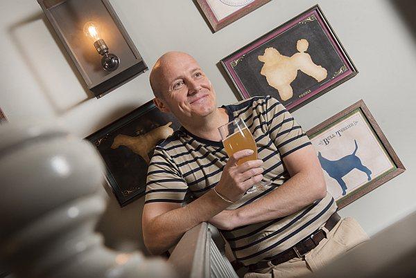 Shock Top, Belgium Beer...chilling...happy boy