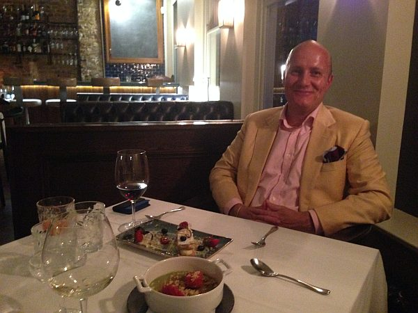 35 New Cavendish, relaxed luxury Marylebone restaurant - Big smile after an evening of great food and wine and lovely company