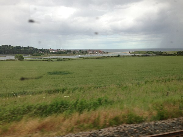 Cranshaws Castle, luxurious Scottish getaway - View from the train window of the sea