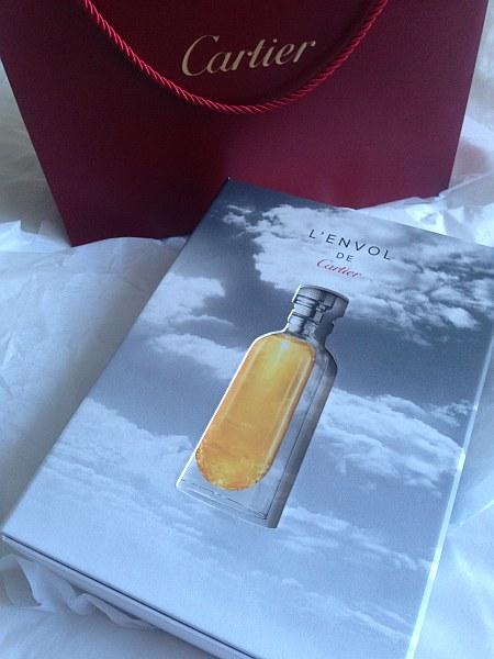 Cartier luxury perfume L'envol at Vinoly Room Skygarden - Cartier L'envol packaging