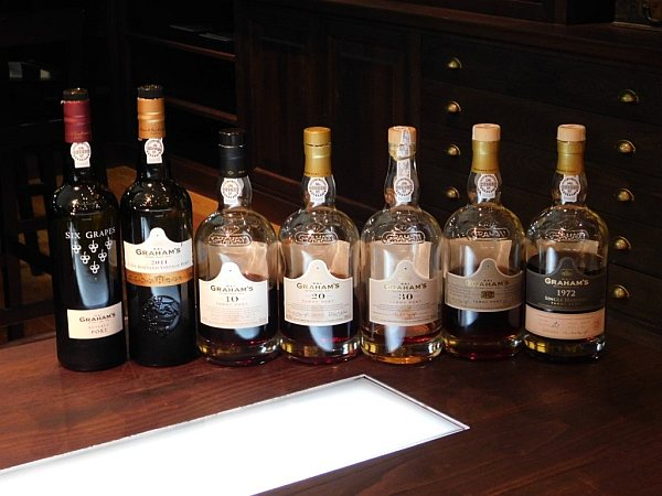 Portugal's refined & luxurious Symington's Port, Douro Valley - Sampling a selection of Graham's ports