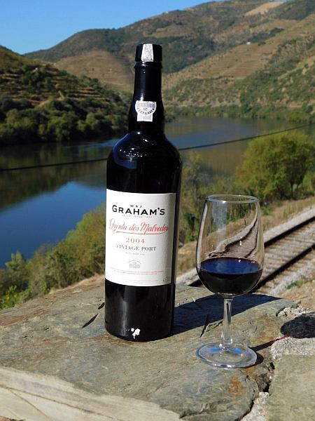 Portugal's refined & luxurious Symington's Port, Douro Valley - Part of the beautiful surroundings of the Douro Valley end up bottled in a bottle of Graham's 2004 Vintage Port.