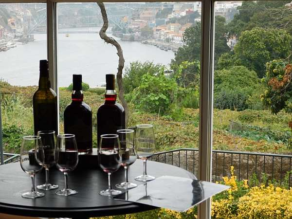 Portugal's refined & luxurious Symington's Port, Douro Valley - The beautiful location of Vinum overlooking Porto's harbour