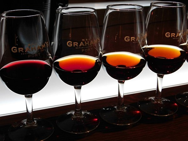 Portugal's refined & luxurious Symington's Port, Douro Valley - An opportunity to sample (from left) Graham's younger ruby through to a selection of tawny ports