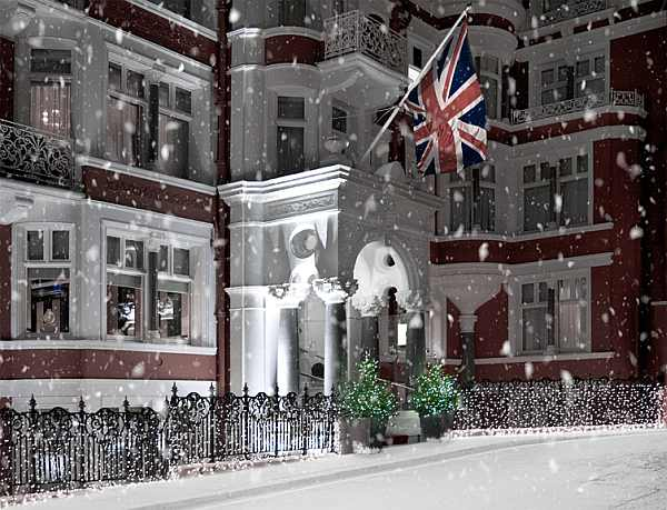 Christmas Shoes for your Princess at St James's Hotel & Club - In the snow