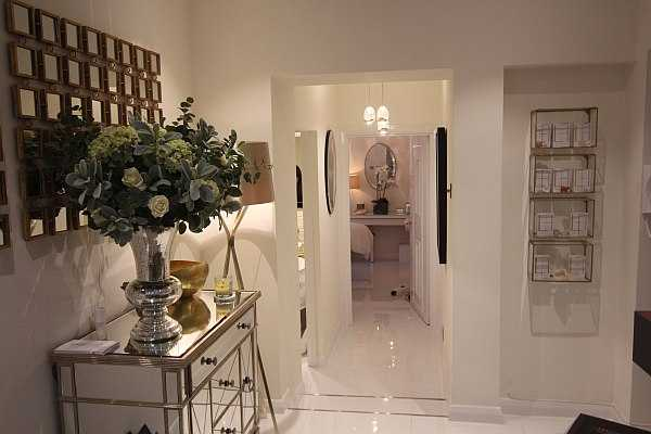 Lisa Franklin luxury Knightsbridge facial pampered in glamour - salon interior