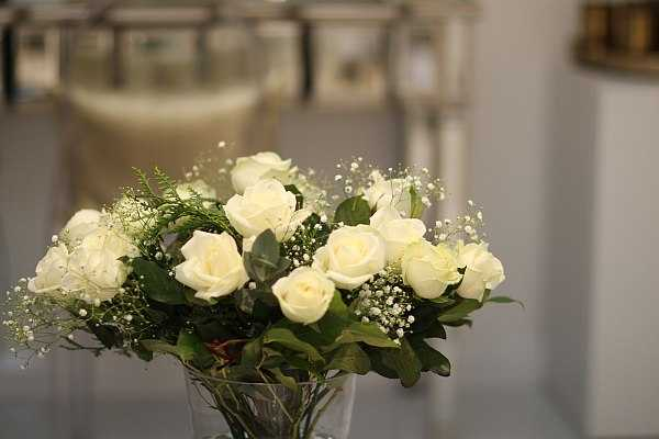 Lisa Franklin luxury Knightsbridge facial pampered in glamour - white roses