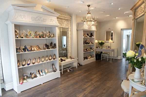 Lucy Choi London Luxury Shoes for Mother's Day - Interior of her luxury west london boutique
