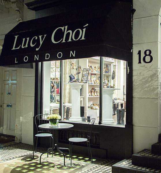 Lucy Choi London Luxury Shoes for Mother's Day - Outside Shop in London