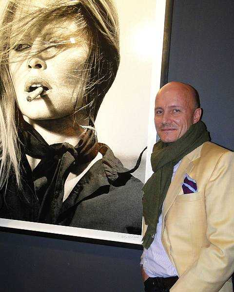 Michael Grenville wearing his Stowers of Savile Row jacket at a celebrity bash in London's Knightsbridge