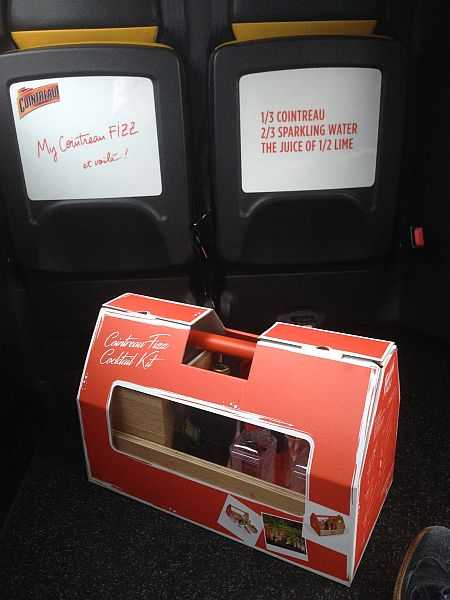 Cointreau Fizz Cocktail Kit puts zizz into your summer - London taxi with my toolkit, heading home