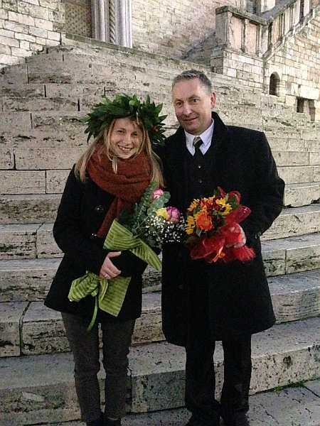 My beautiful love affair with Umbria - Perugia, look who has just got married..
