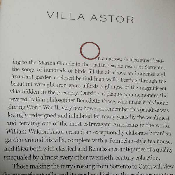 VILLA ASTOR Paradise Restored on the Amalfi Coast - Book flap