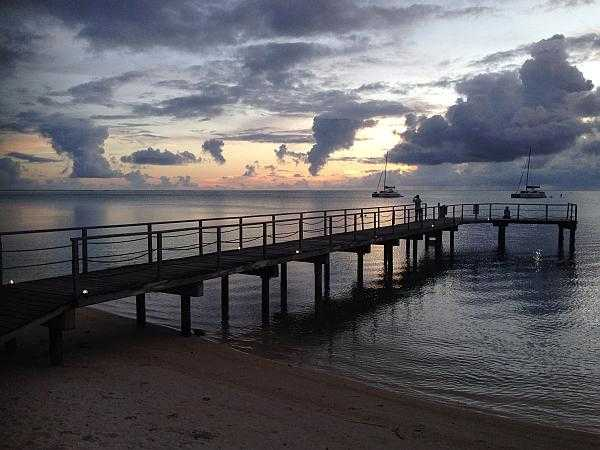 TaEvening skies over Huahine