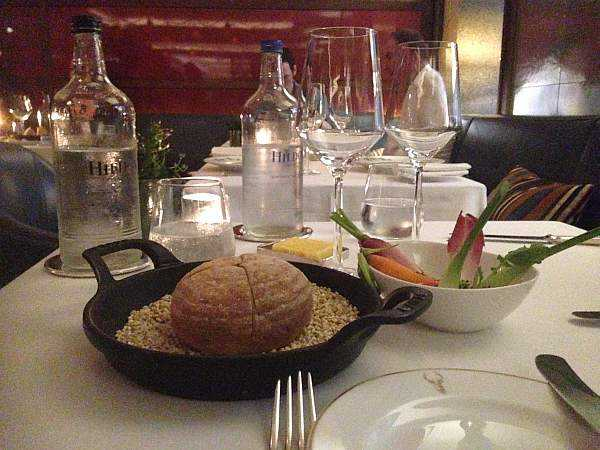 Corrigan's of Mayfair for those looking for premium tasty food - Breads and Waters