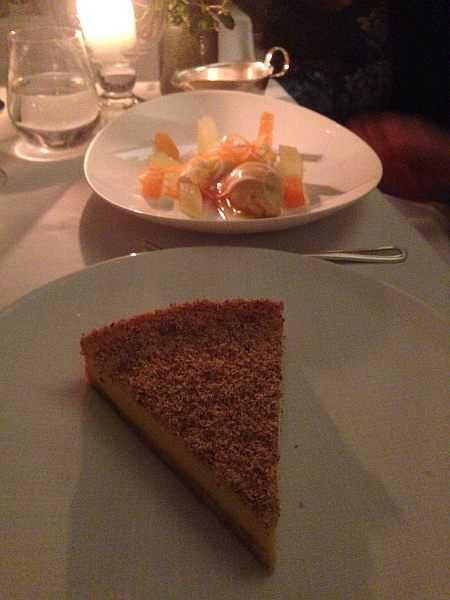 Corrigan's of Mayfair for tCustard tart and cheesecake