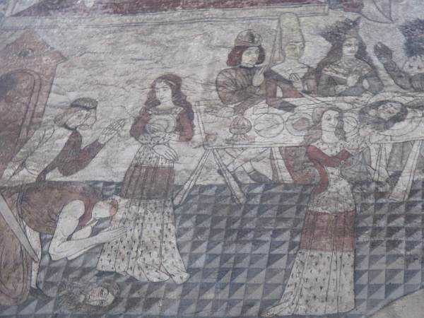 Five ladies and a Butler at The White Swan - Historical scenes in Pickering Church
