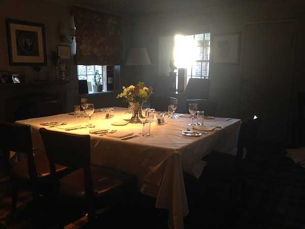 Five ladies and a Butler at The White Swan - Secluded separate dining room for guests