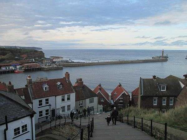 Five ladies and a Butler at The White Swan - Steps leading up to Whitby Abbey