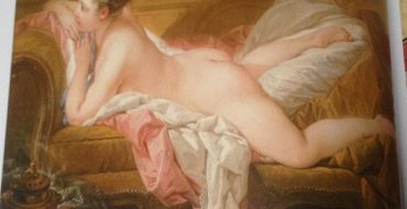 The Art of The Erotic - Painting by Francois Boucher, Reclining Girl, 1752