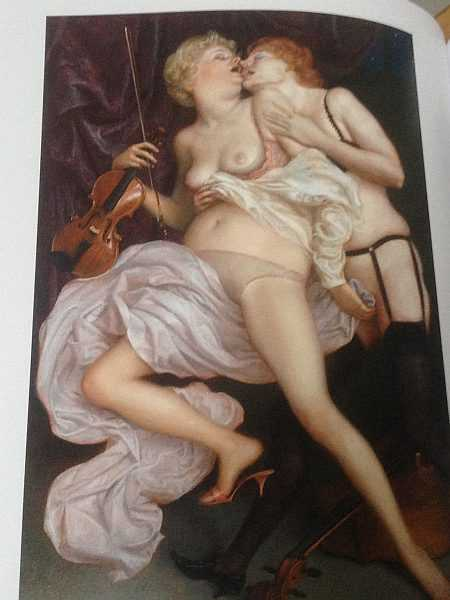 The Art of The Erotic - Painting by John Currin, The Conservatory, 2010