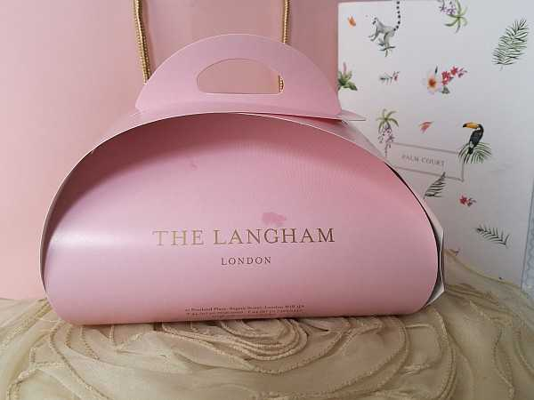 The Langham London - Afternoon Tea....A Pink Goodie Bag to take home