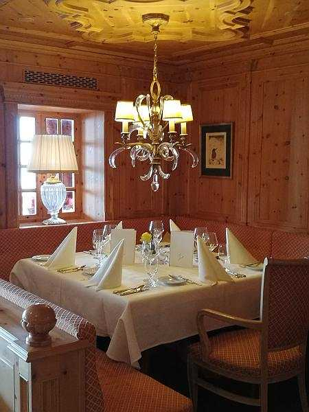 HOTEL Zürserhof, Zurs, ski luxuries from Dirndls to ski school - The restaurant is impeccable with service to match..luxury dining etiquette