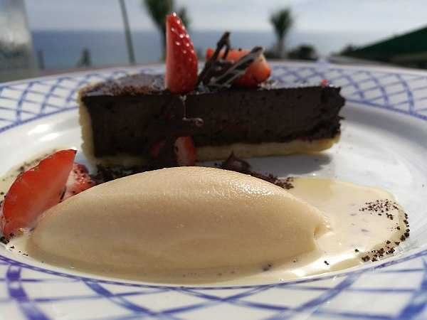 The Nare Hotel, Cornwall offering true English traditional comfort - Lunch pudding.mmmm now walk !!