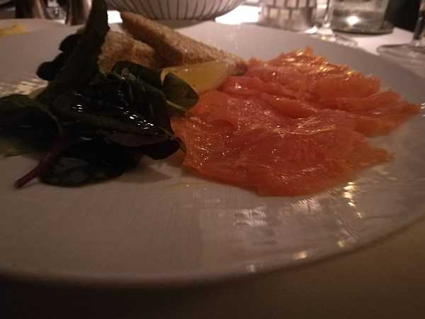 The Petersham Restaurant, Richmond offers a slice calm & seclusion - Salmon Starter